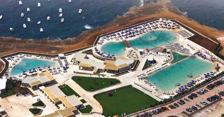 Il diciannove piscine bio design - Piscina sulfurea santa cesarea terme ...